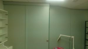 раздвижная стеклянная дверь в перегородке 2