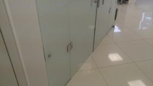 распашная стеклянная дверь с матовой пленкой