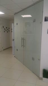 распашные стеклянные двери матовая пленка 2