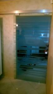 стеклянная сдвижная дверь 6