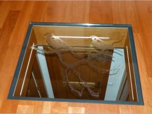 стеклянный пол с пескоструем
