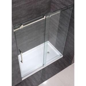 4 душевая перегородка из стекла со сдвижной дверью
