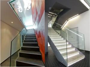 ф3 стеклянные ограждения лестниц