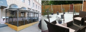 ф5.2 стеклянные ограждения летнего кафе