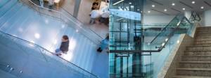 ф6 стеклянные ограждения лестниц