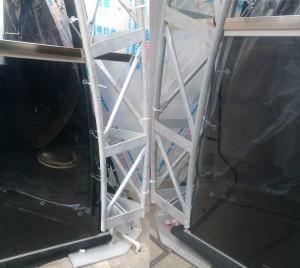 стеклянное ограждение стекло графит 2