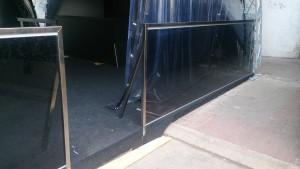 стеклянное ограждение стекло графит
